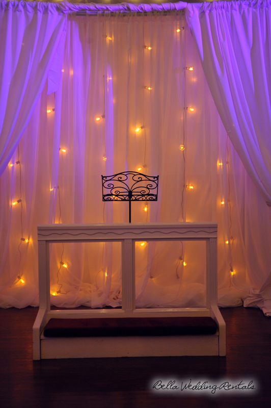 Illuminated Fabric Wedding Altar