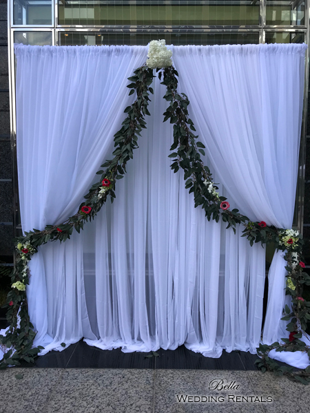 fabric wedding altar
