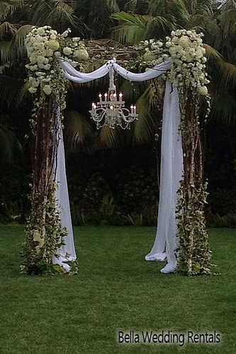 fabric & twig wedding altar