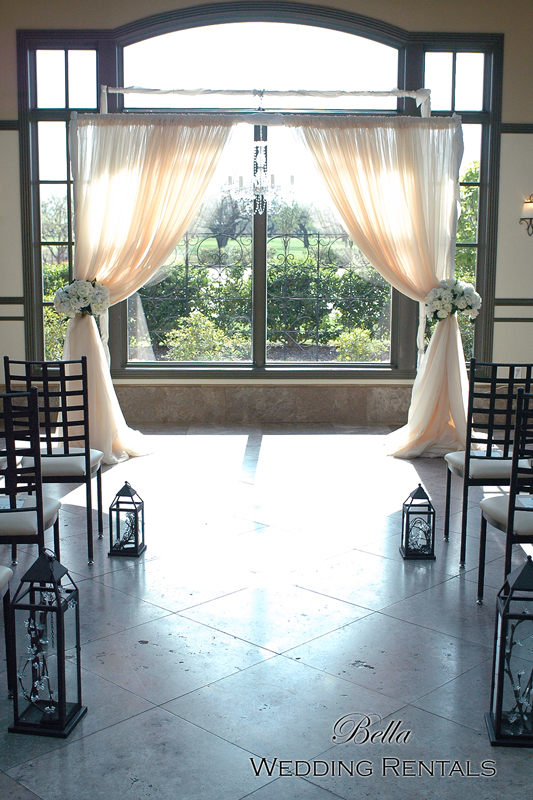 Ceremony Rentals . Arches . Chuppahs . Canopies . Aisle Decor