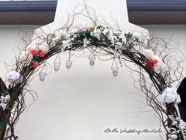 twig wedding arch