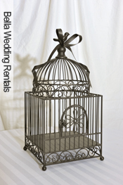 Metal Ribbon Bird Cage