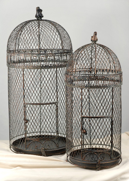 Tiffany Blue Teak bird cage rentals