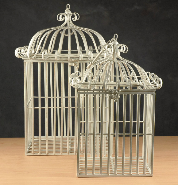 White French Vintage bird cage rentals