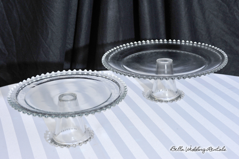 Footed Glass Cake Stands