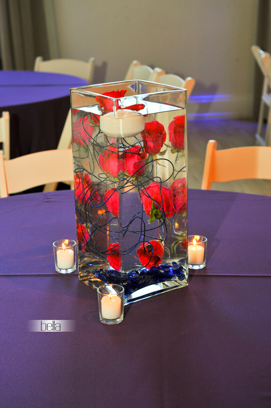 centerpiece rental - wedding reception 7008