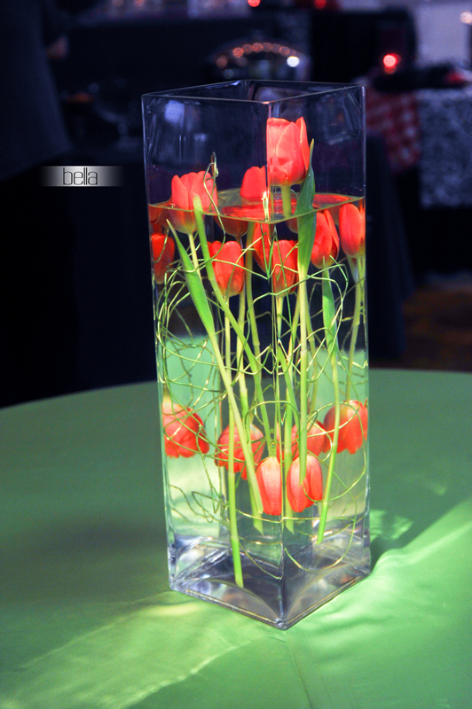 centerpiece rental - wedding reception 7142