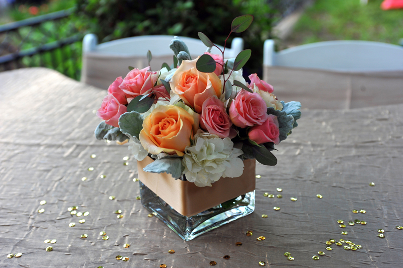 centerpiece rental - wedding reception 7385