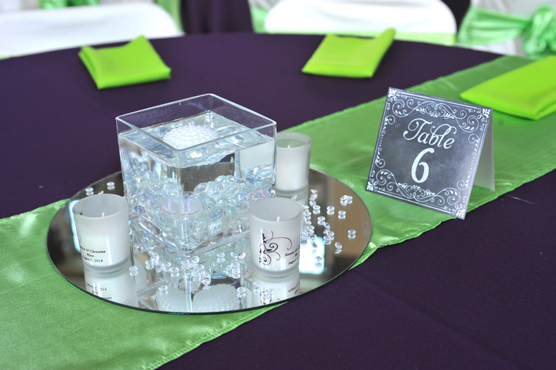 centerpiece rental - wedding reception 7410