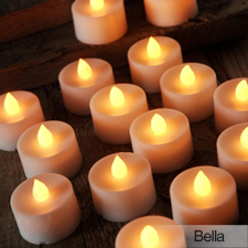 Battery Votive centerpiece treatment