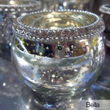 Beaded Votives centerpiece treatment