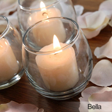 Glass Votive centerpiece treatment