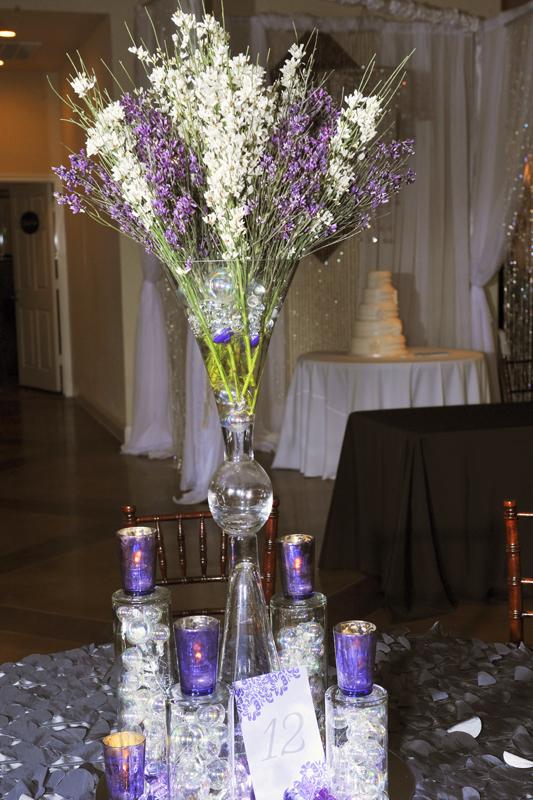 Non glass centerpiece wedding rentals