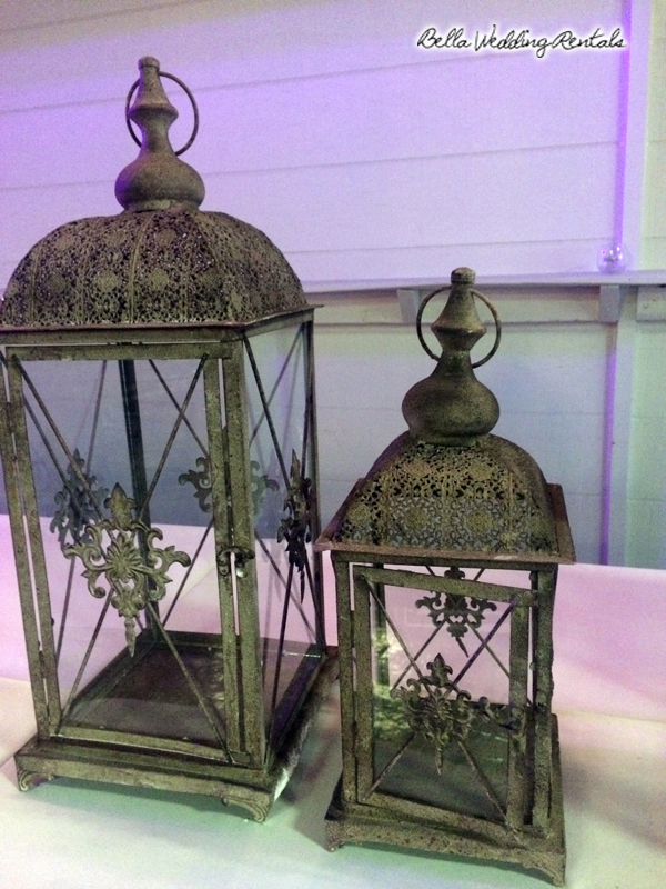 rustic wedding coach lantern
