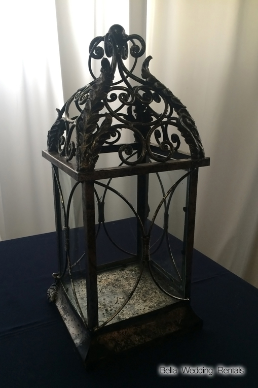 black & Silver wedding coach lantern