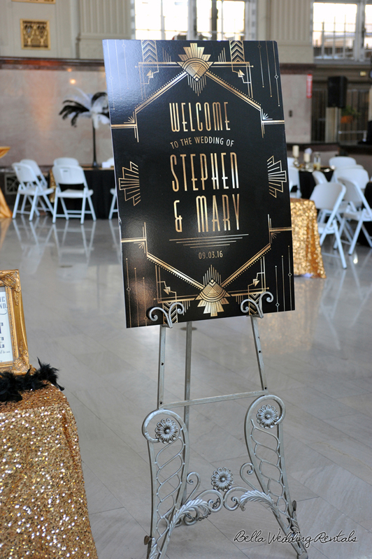 great gatsby wedding theme - T & P wedding reception - 1502