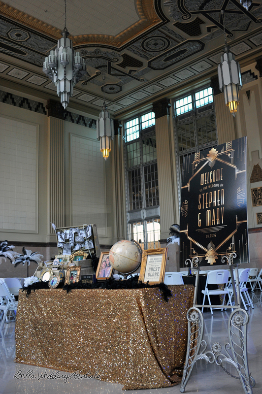 great gatsby wedding theme - T & P wedding reception - 1507