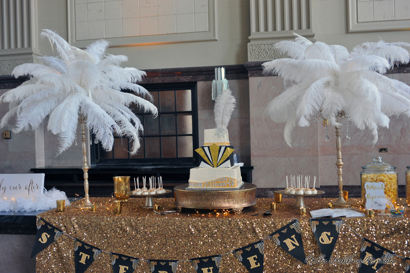 great gatsby wedding theme - T & P wedding reception - 1512