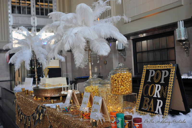 great gatsby wedding theme - T & P wedding reception - 1523