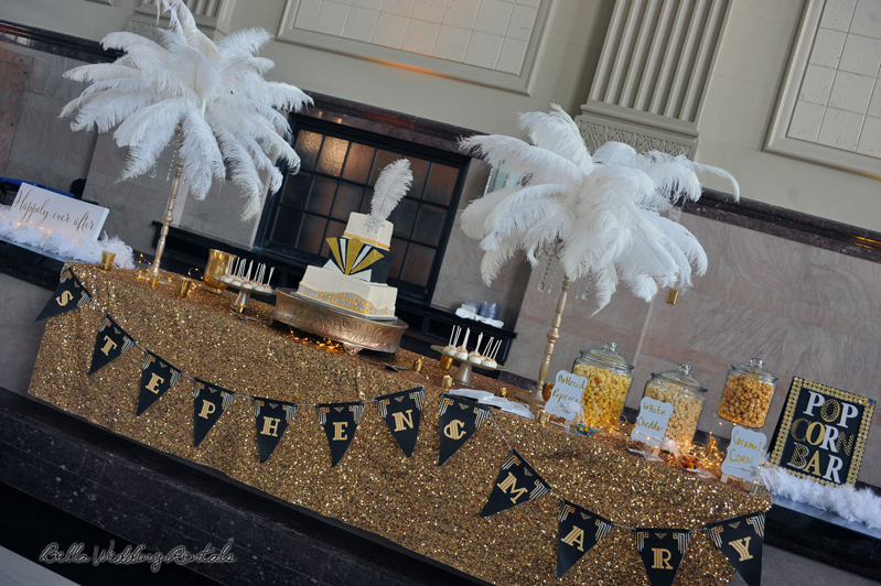 great gatsby wedding theme - T & P wedding reception - 1525