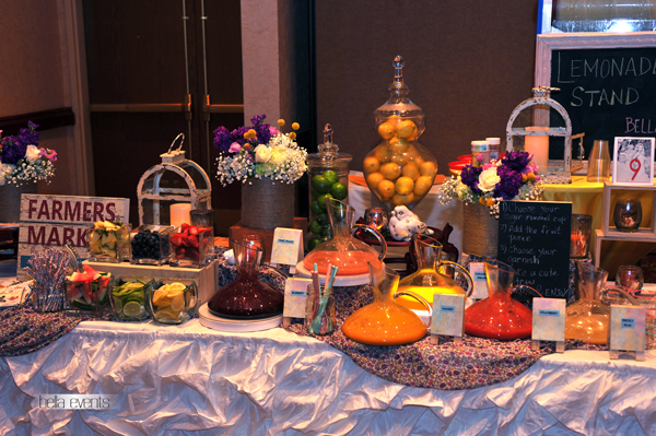 Lemonade Station For Your Wedding Reception