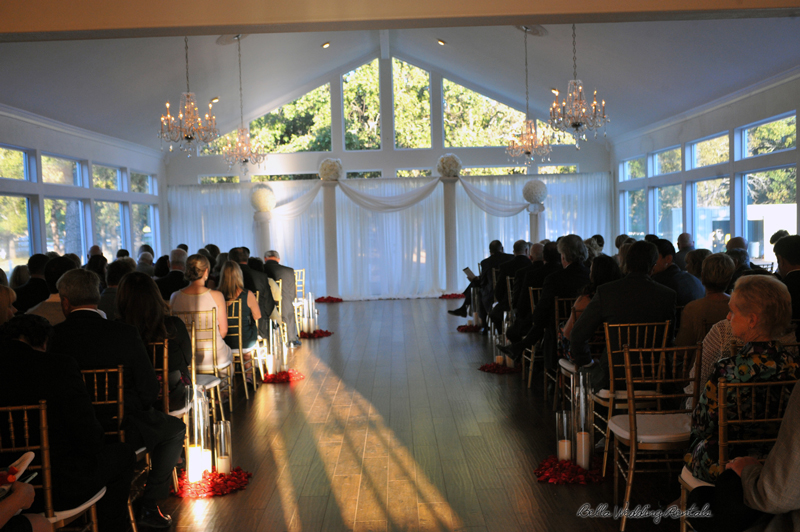 Fabric Curtain, Columns & Flower Balls