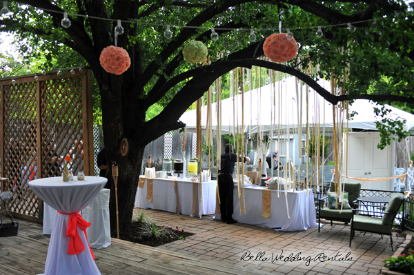 wedding ribbon curtain