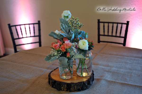 Rustic Wood Slice Centerpiece