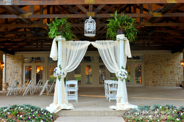 fabric wedding altar - pipe & drape rentals - 7204