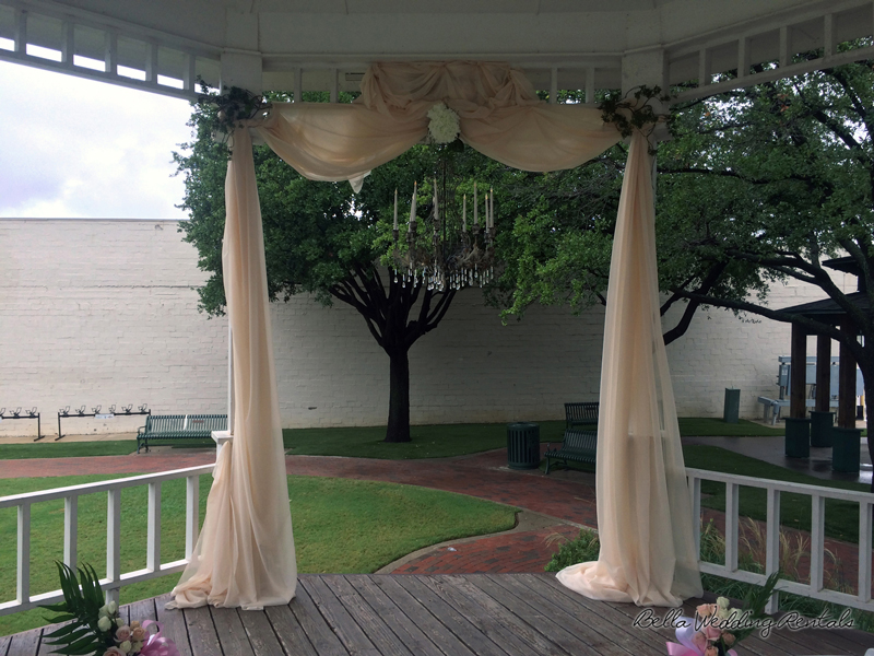 fabric wedding altar - pipe & drape rentals - 7207
