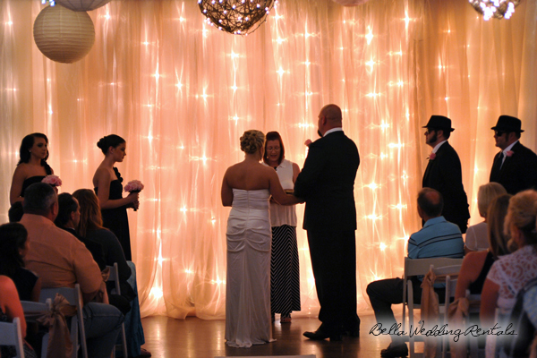 fabric wedding altar - pipe & drape rentals - 7211