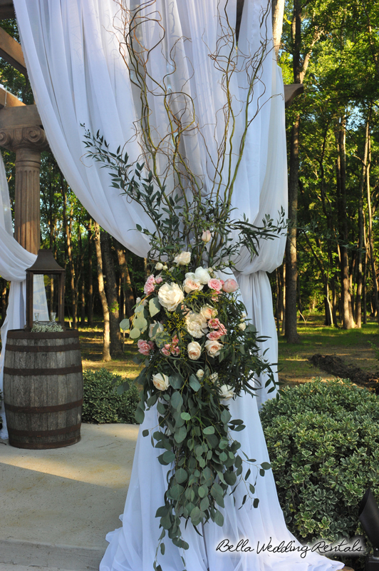 fabric wedding altar - pipe & drape rentals - 7213