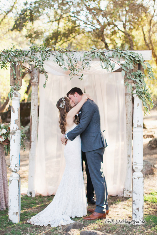 fabric wedding altar - pipe & drape rentals - 7216