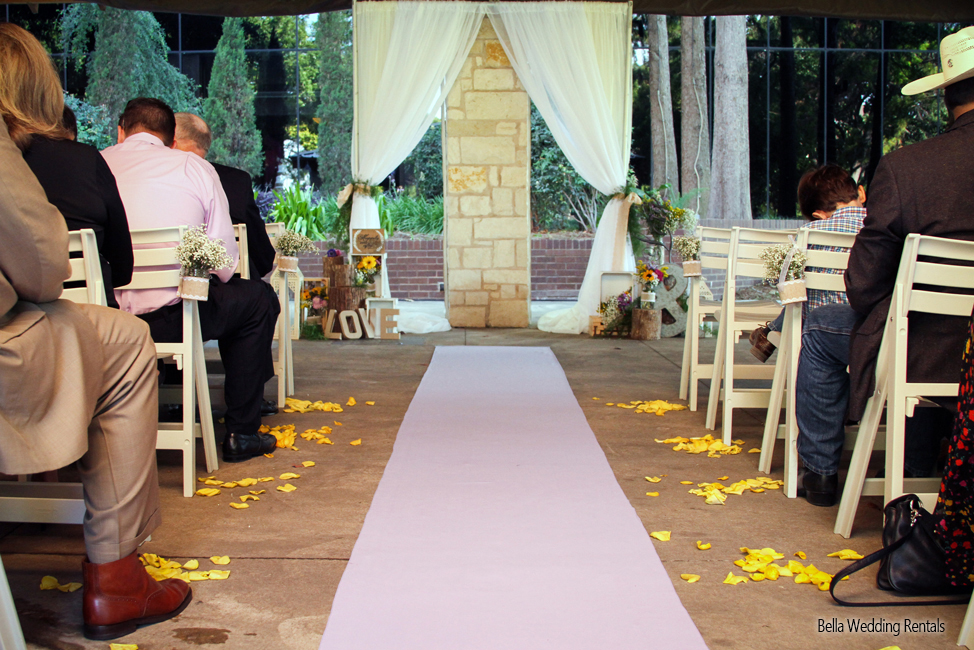 fabric wedding altar - pipe & drape rentals - 7218