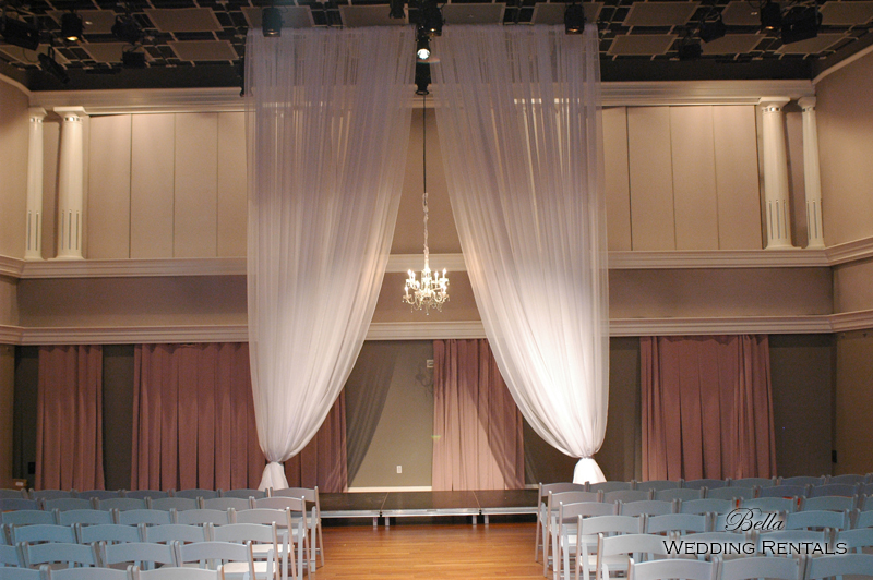 fabric wedding altar - pipe & drape rentals - 7222