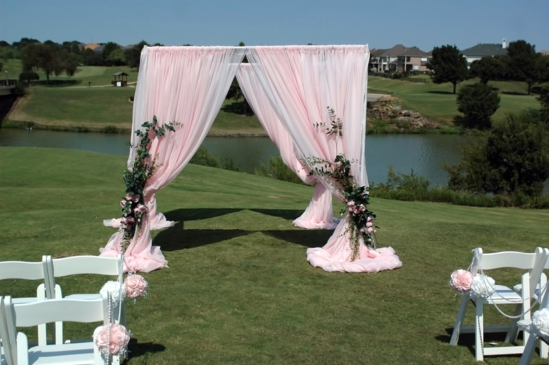 fabric wedding altar - pipe & drape rentals - 7223