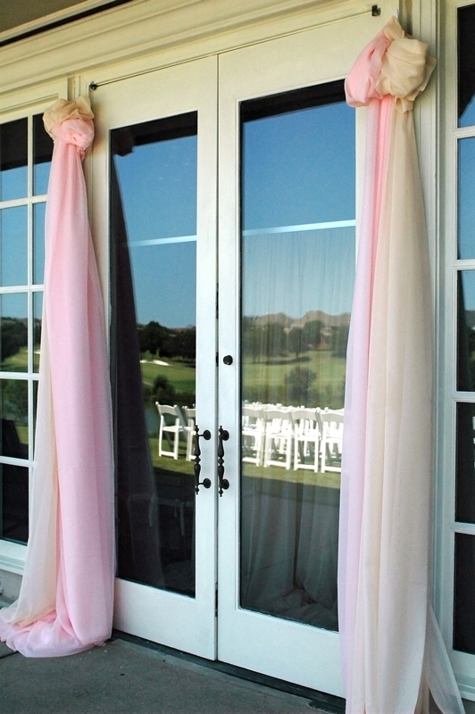 fabric wedding altar - pipe & drape rentals - 7225