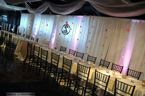 wedding entryway & wall fabric - pipe & drape rental - 8101