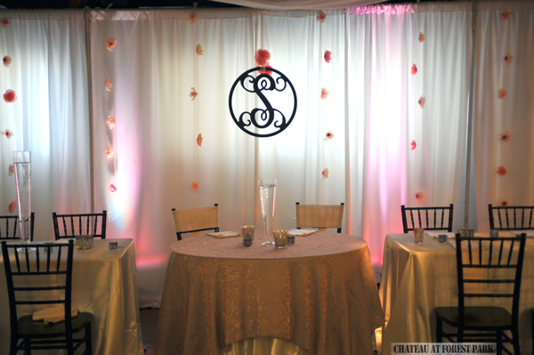 wedding entryway & wall fabric - pipe & drape rental - 8102