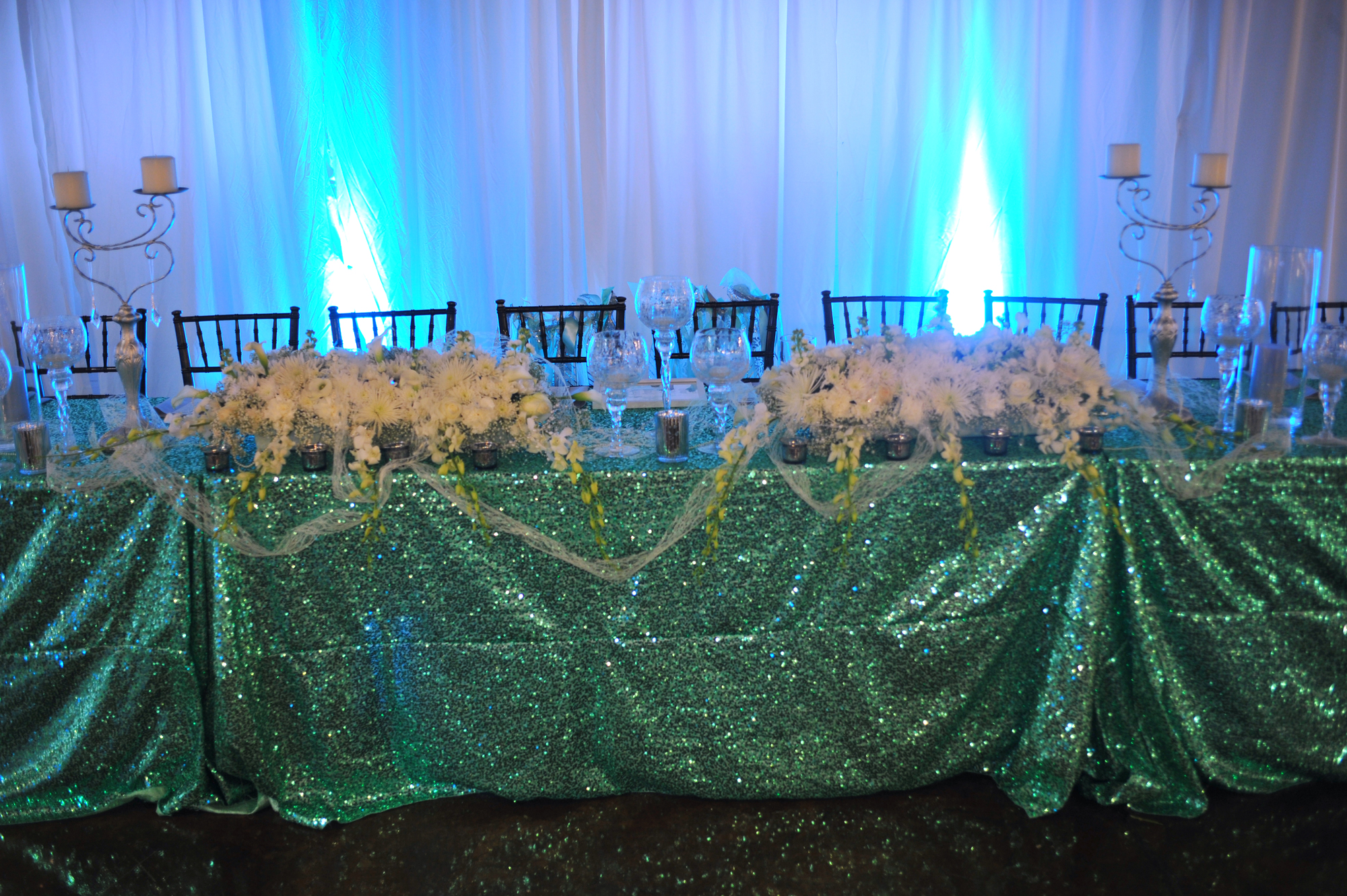 wedding entryway & wall fabric - pipe & drape rental - 8104
