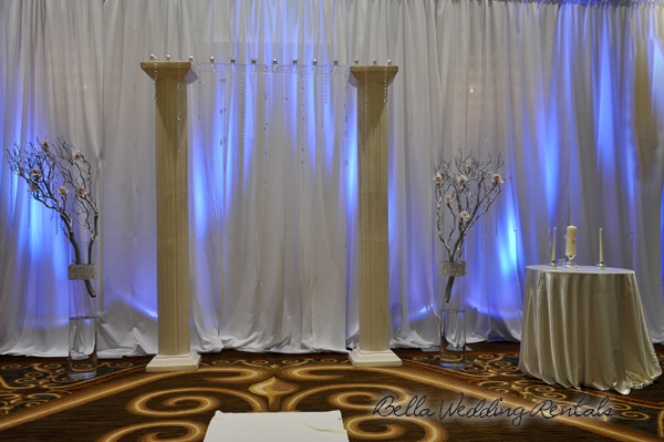 wedding entryway & wall fabric - pipe & drape rental - 8105