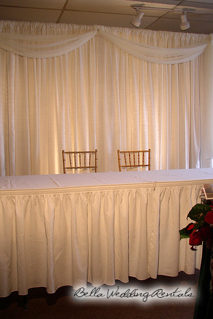 wedding entryway & wall fabric - pipe & drape rental - 8106