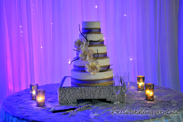 wedding entryway & wall fabric - pipe & drape rental - 8107