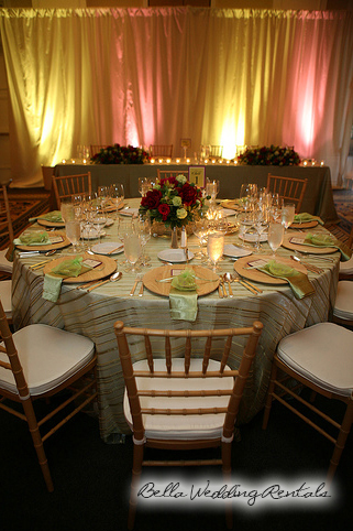 wedding entryway & wall fabric - pipe & drape rental - 8108