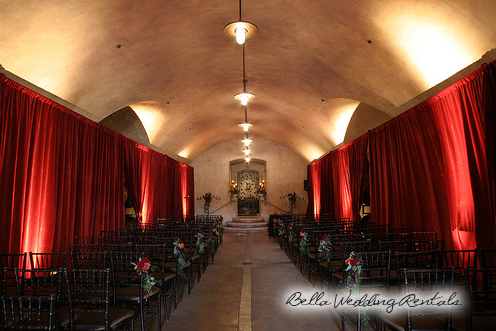 wedding entryway & wall fabric - pipe & drape rental - 8109