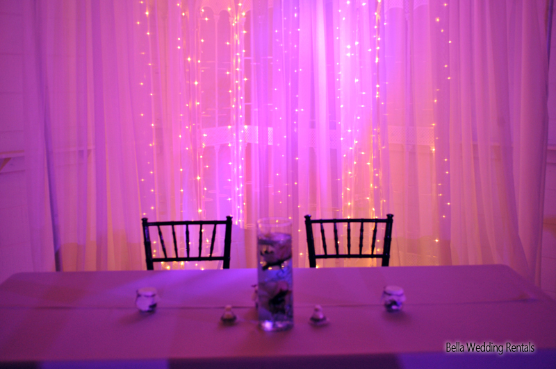wedding entryway & wall fabric - pipe & drape rental - 8110