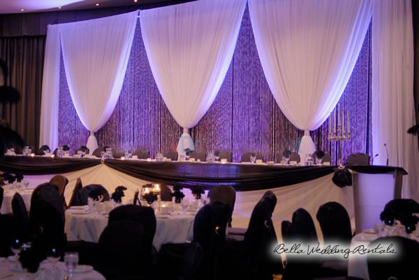 wedding specialty fabric - pipe & drape rental - 8201