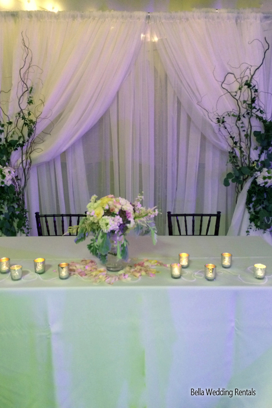 wedding specialty fabric - pipe & drape rental - 8202