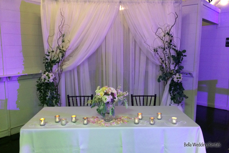wedding specialty fabric - pipe & drape rental - 8203