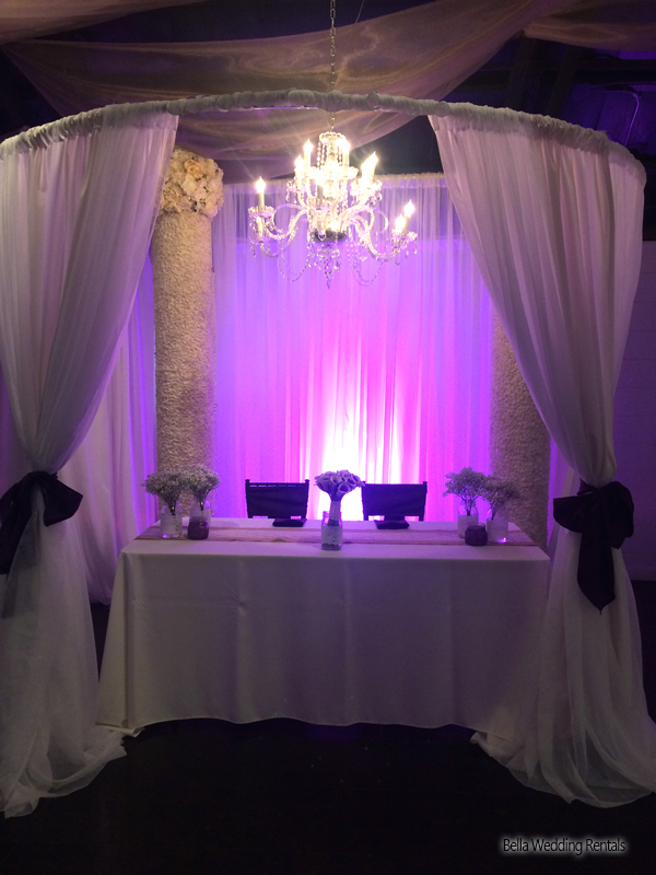 wedding specialty fabric - pipe & drape rental - 8205